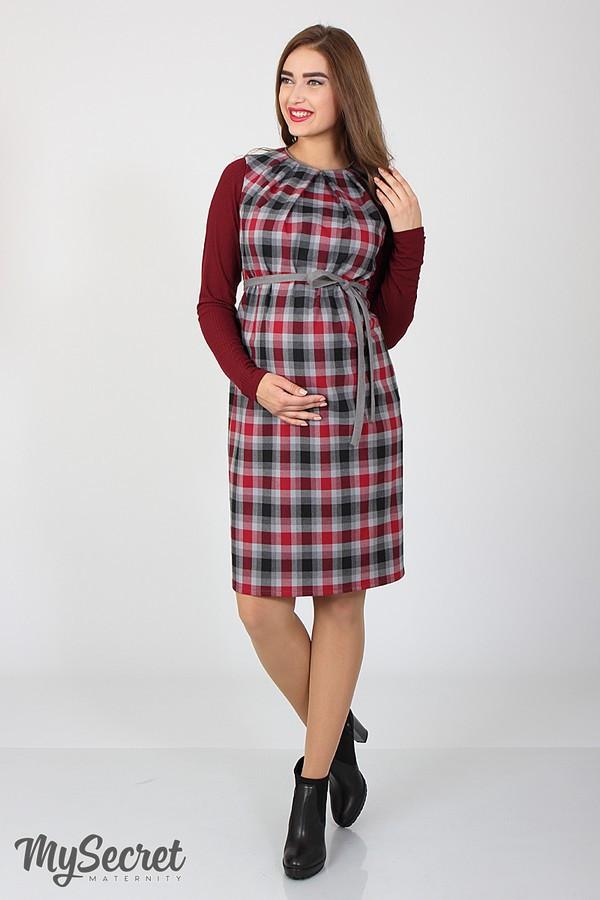 Сарафан для беременных прямой из костюмной ткани Юла Мама Devos SF-47.011 S