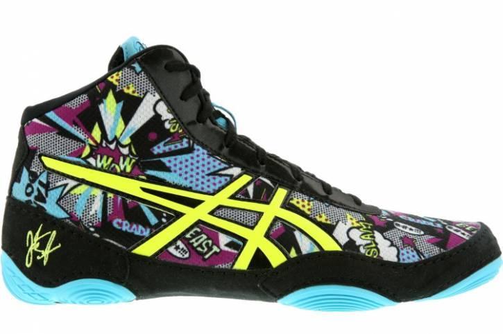 Детские Борцовки, боксерки Asics JB Elite V2.0, КОМИКС, Обувь для борьбы Асикс. Обувь для бокса Asics.