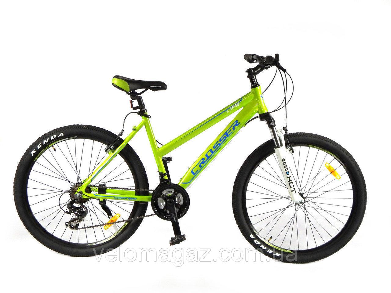 """Велосипед Crosser Life-1 New 26"""" белый алюминиевый горный"""