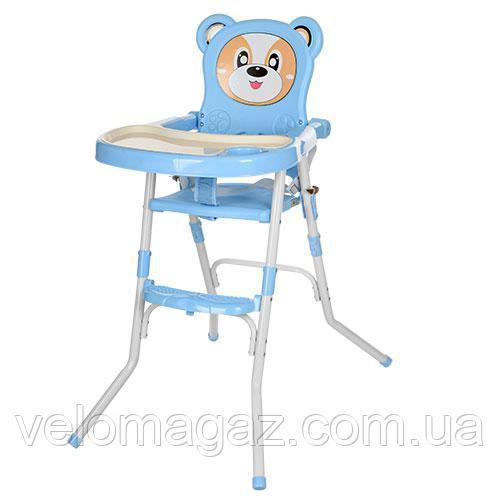 Детский стульчик для кормления 113-4 голубой