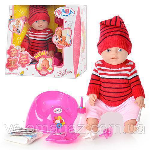 Кукла-пупс BB 8001 G интерактивная, реплика, 9 функций