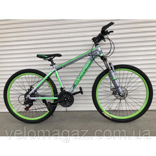 """Велосипед горный TopRider-424 26"""" алюминиевый салатовый"""