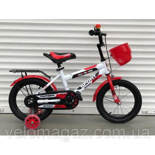 """Велосипед TopRider 804 16"""" красный детский двухколесный с багажником"""