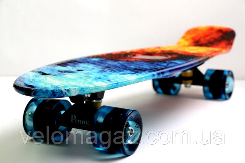 """Penny Board Nickel 27"""" """"Fire and Ice"""""""
