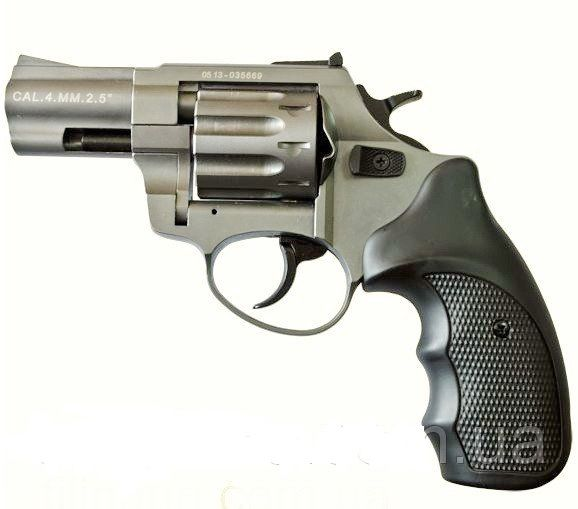 Револьвер под патрон флобера Stalker 2,5 Titanium (черная рукоятка)