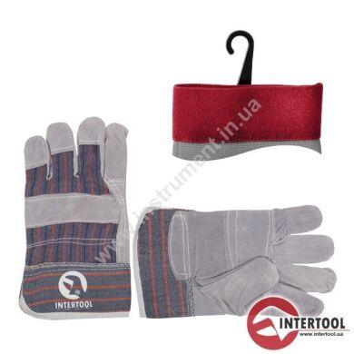 """Перчатка комбинированная из замша и ткани 10.5"""" InterTool SP-0014 Перчатка комбинированная из замша и ткани 10.5"""""""