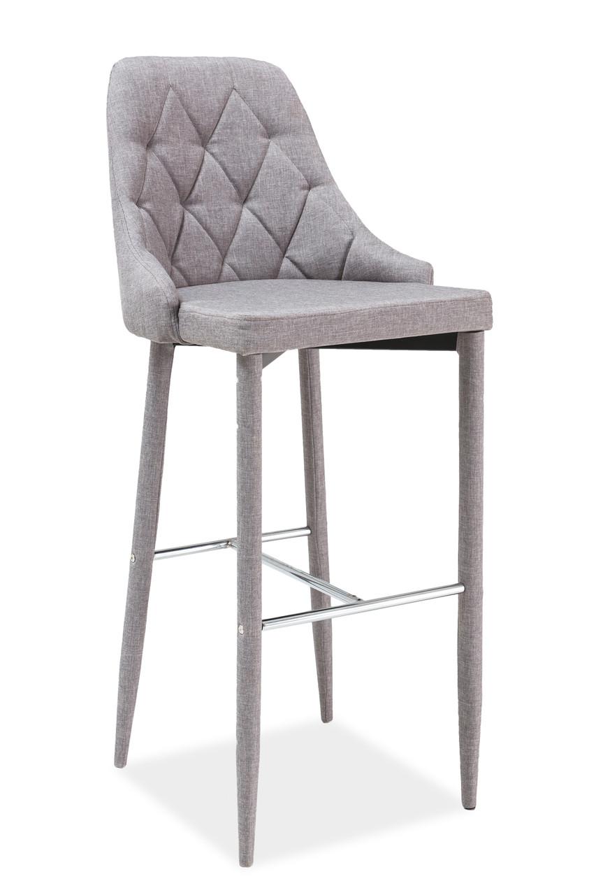 Барный стул Signal Trix H-1 серый ткань TAP.06