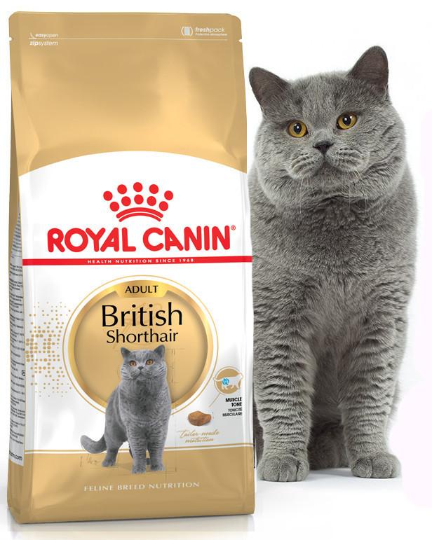 Сухой корм для кошек Royal Canin Adult British Shorthair для породы британская короткошерстная 2 кг.