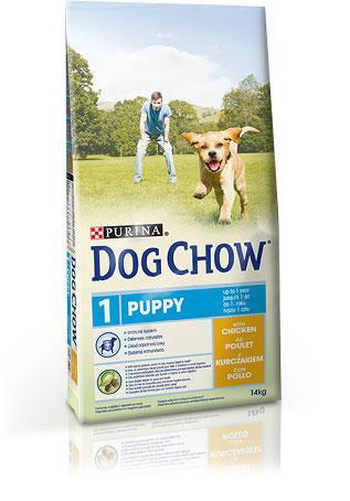 Сухой корм для щенков DOG CHOW Puppy с курицей .