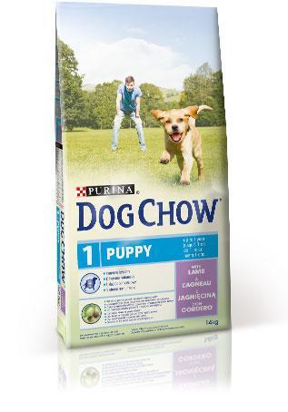 Сухой корм для щенков DOG CHOW Puppy с ягненком .