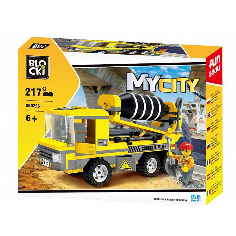 Конструктор Blocki MyCity Бетономішалка, 217 деталей