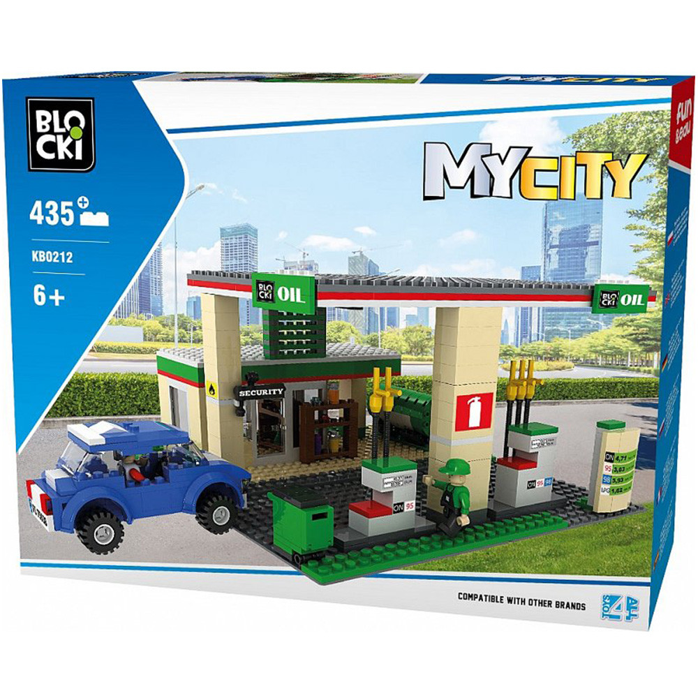 Конструктор Blocki MyCity АЗС, 435 деталей