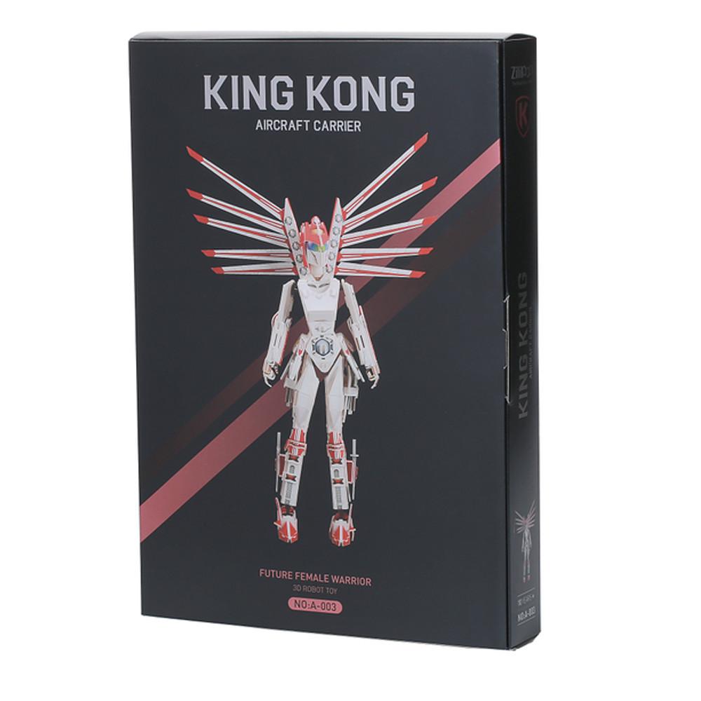 3D-пазл, еко-конструктор King Kong Воїн, 106 деталей