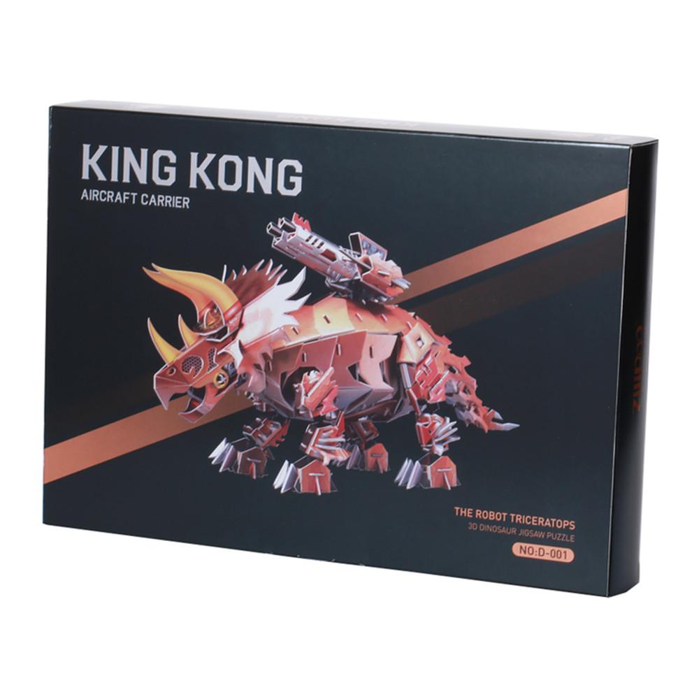 3D-пазл, еко-конструктор King Kong Трицератопс, 170 деталей
