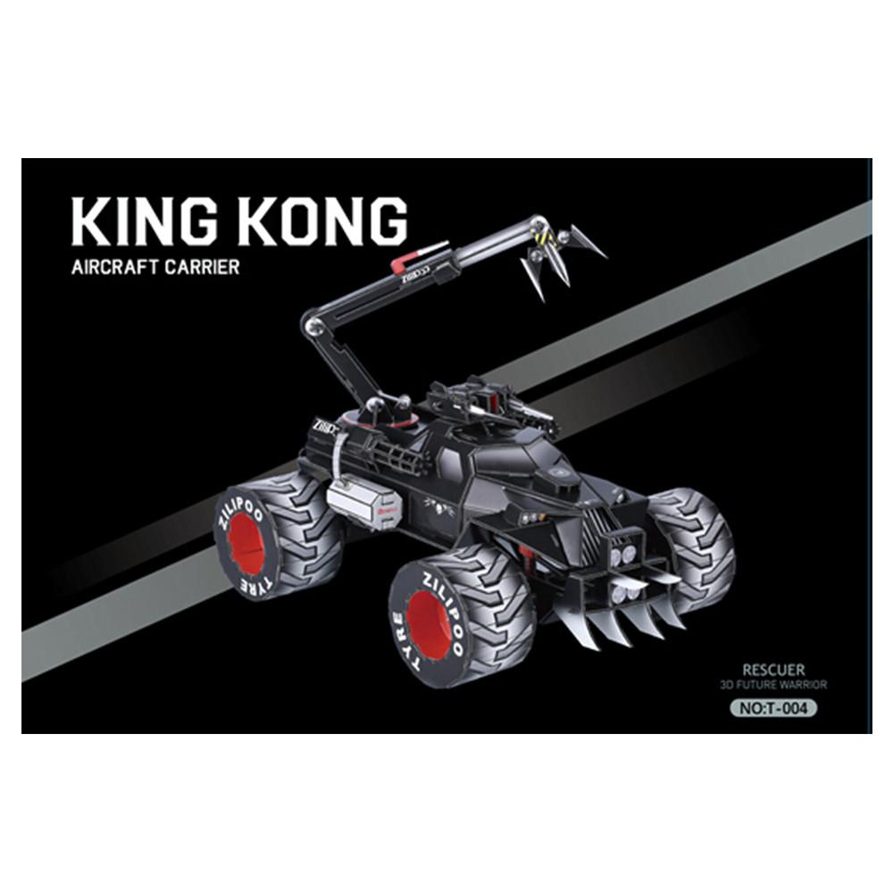 3D-пазл, еко-конструктор King Kong Машина, 217 деталей