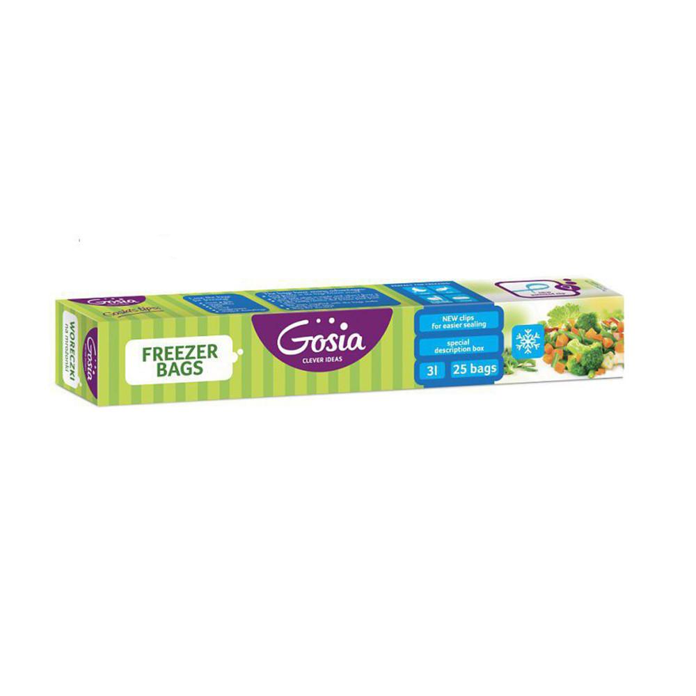 Пакети для заморожування Gosia, 25 шт, 25 х 33 см