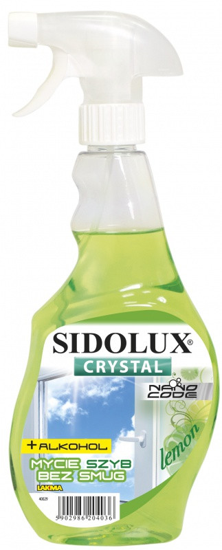 Засіб для миття вікон і скляних поверхонь Sidolux Crystal, 0.5 л, Лимон