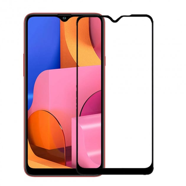 Защитное стекло для Samsung A10 Full Glue с рамкой