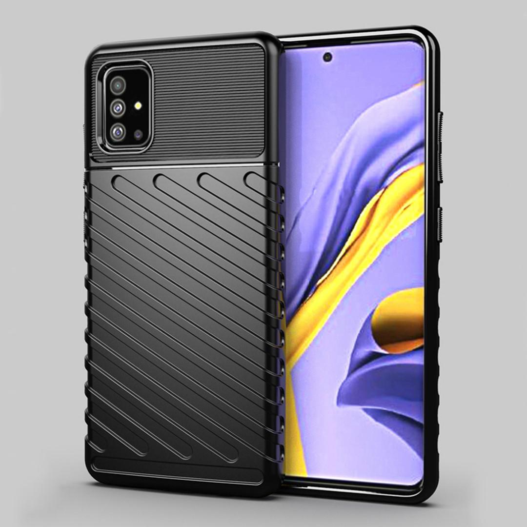 Противоударный TPU чехол Mobile Shell для Samsung Galaxy A51 (SM-A515) черный