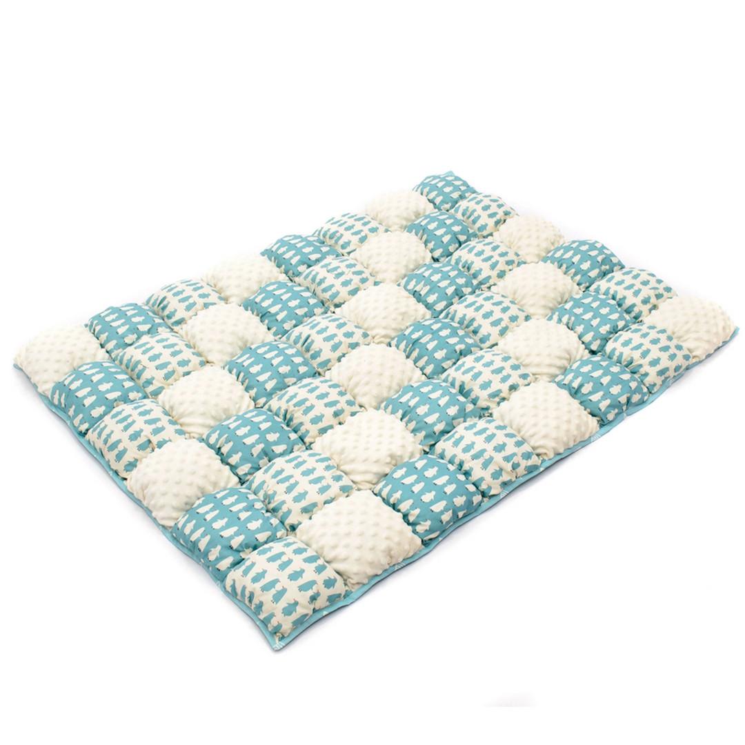 Детское одеяло для малышей 0-2 года, 120х85, бирюзовый/белый
