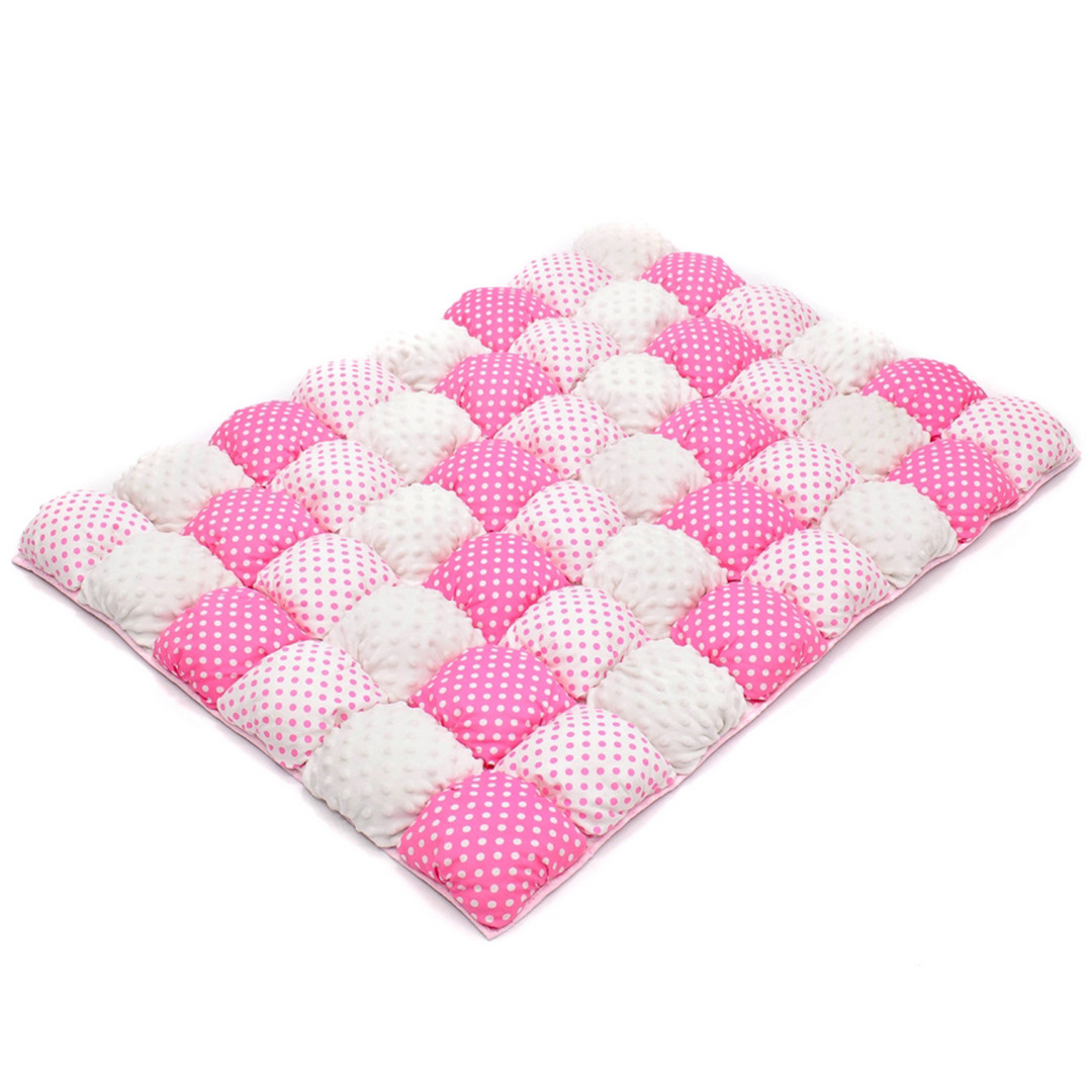 Детское одеяло для малышей 0-2 года, 120х85, розовый/белый