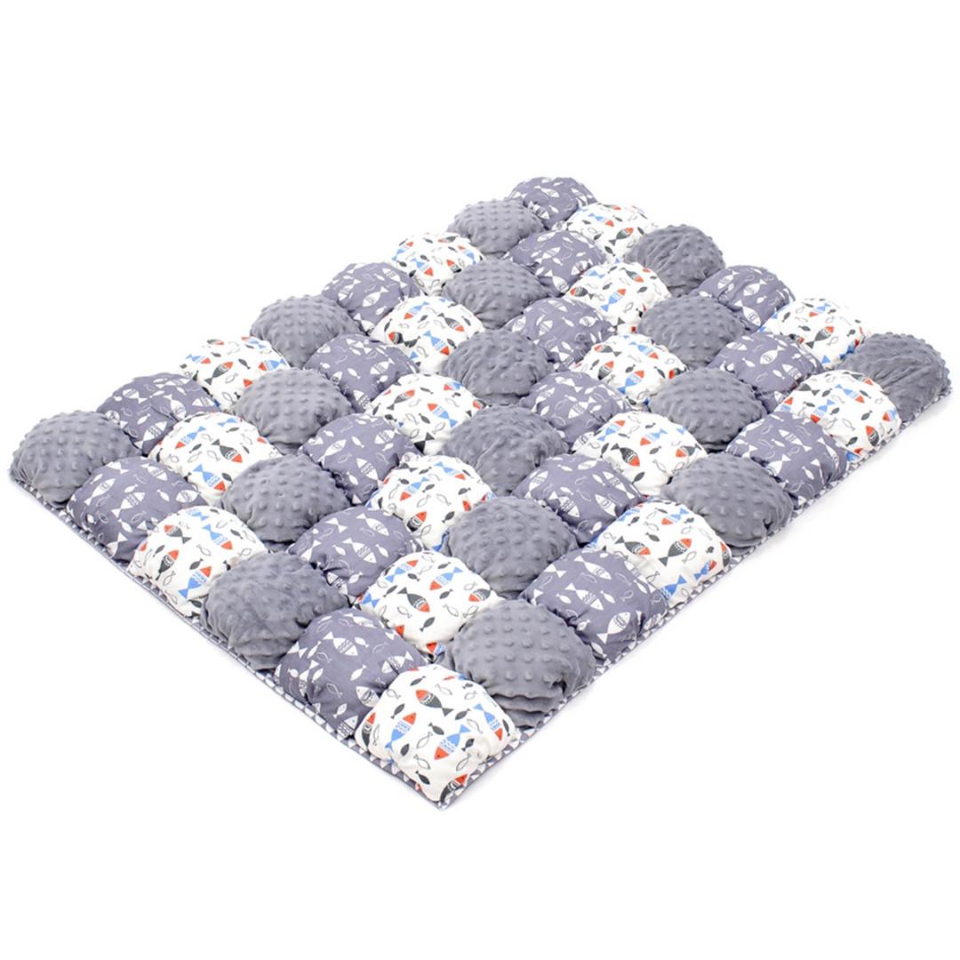 Детское одеяло для малышей 0-2 года, 120х85, серый/белый