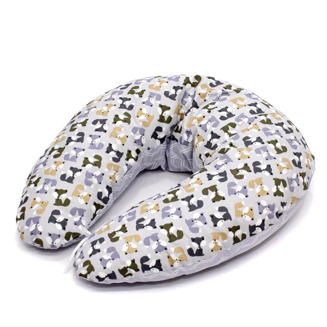 Подушка для кормления и сна u-образная серая
