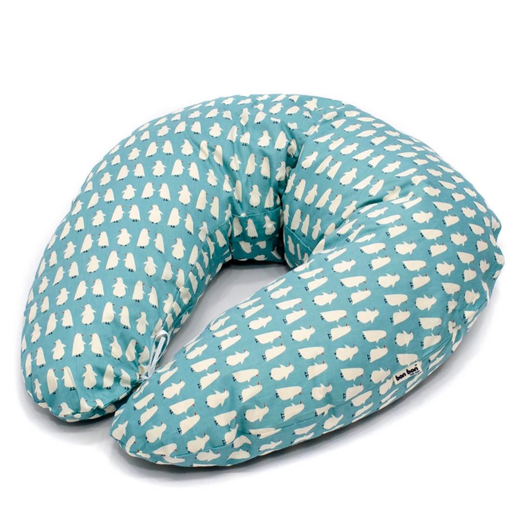 Подушка для кормления и сна u-образная бирюзовая