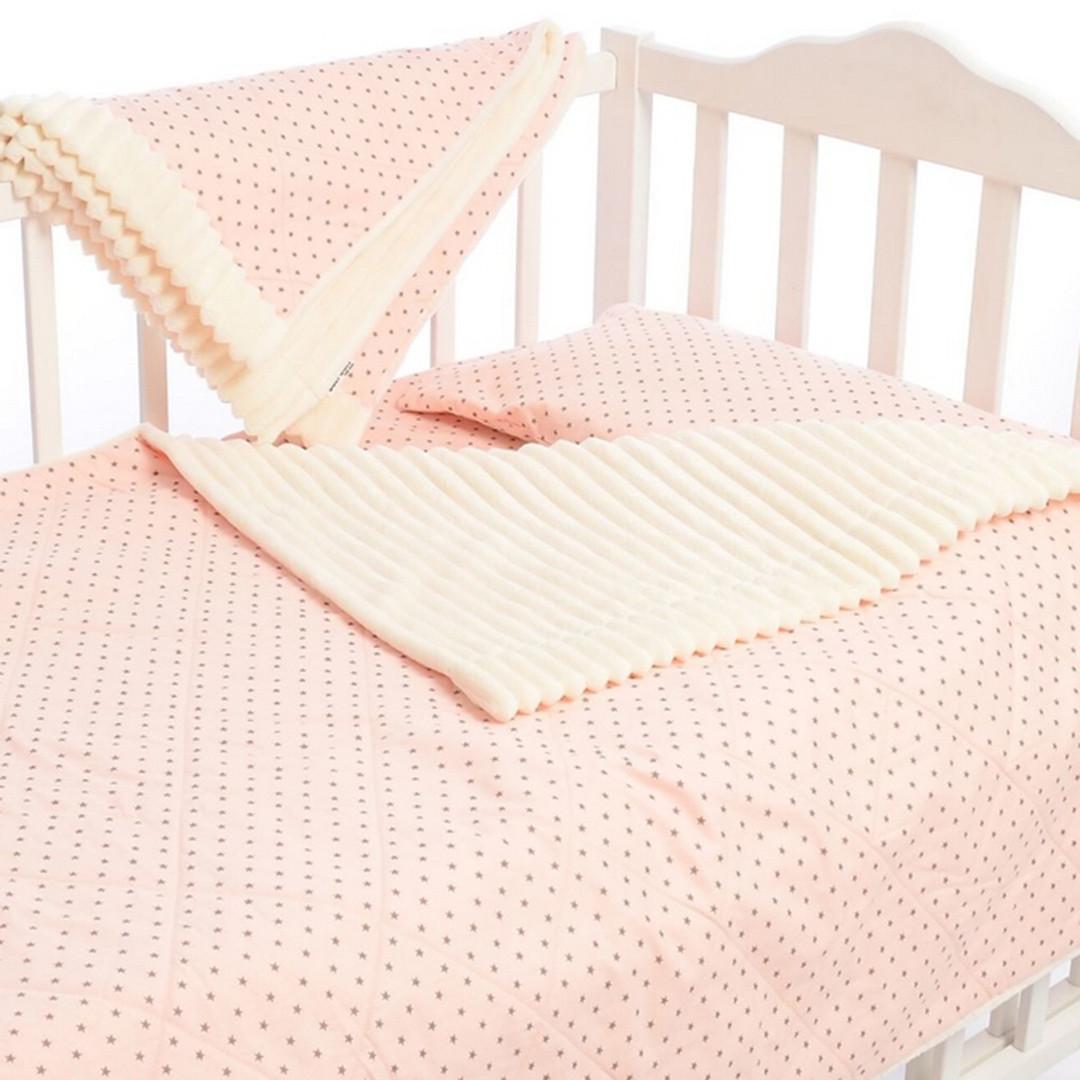 Подарочный набор постельного белья в кроватку Bon Bon, 4 элемента, персиковый