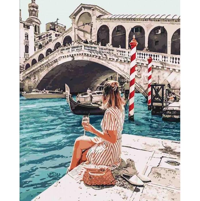 """Картина по номерам """"Влюблена в Венецию"""" Идейка, 40х50"""