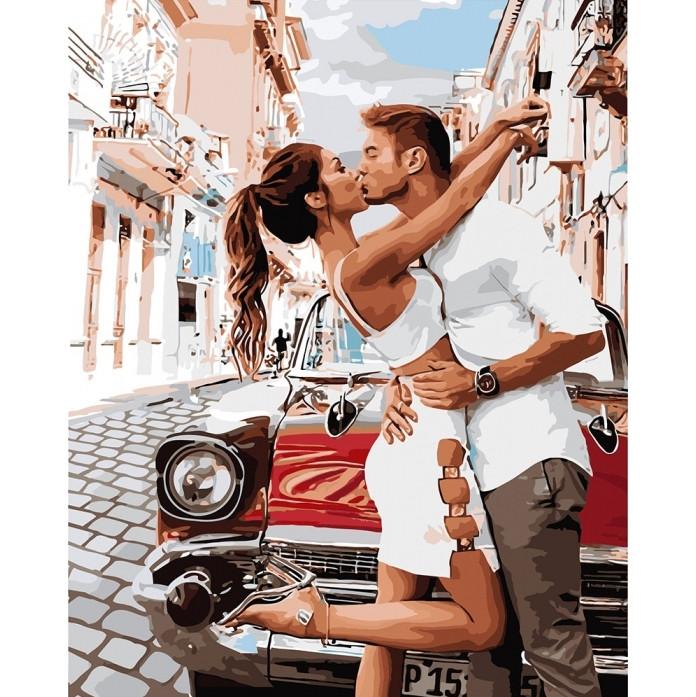"""Картина по номерам """"Страстный поцелуй"""" Идейка, 40х50"""