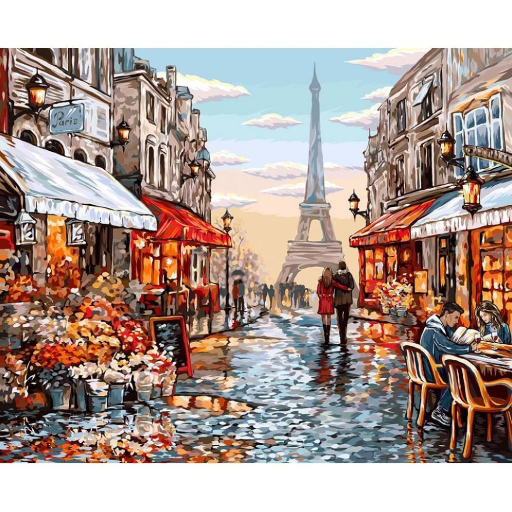 "Картина по номерам ""Париж"", Danko Toys, 40х50"
