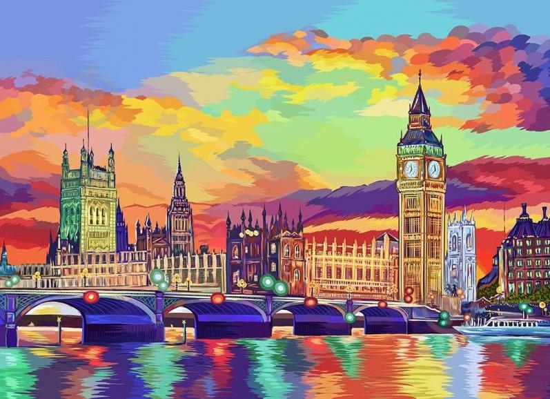"Картина по номерам ""Лондон"", Danko Toys, 40х50"