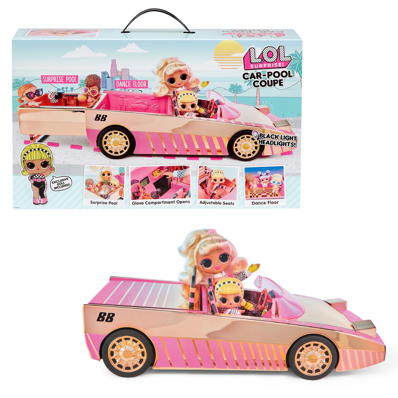 LOL Surprise Car-Pool Coupe с куклой Drag Racer кукла с машиной 565222