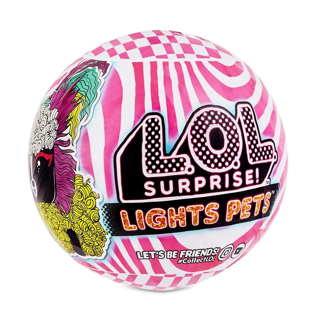 Питомец L.O.L. Surprise! Lights Pets с настоящими волосами и 9 сюрпризами, 564898 ОРИГИНАЛ