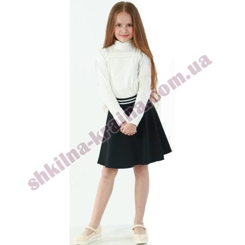Юбка для девочки синяя в белую полосу пояс Арт.183 Filatowa Tatiana
