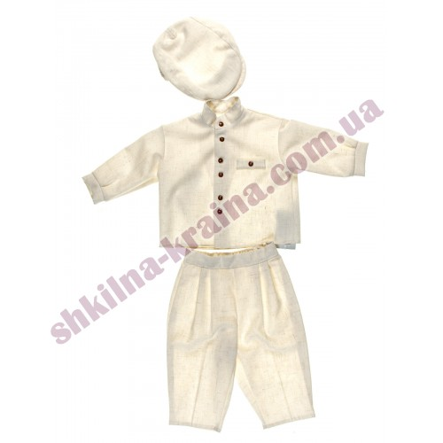 Комплект для мальчика Dzianex льняной 3 предмета Арт 70