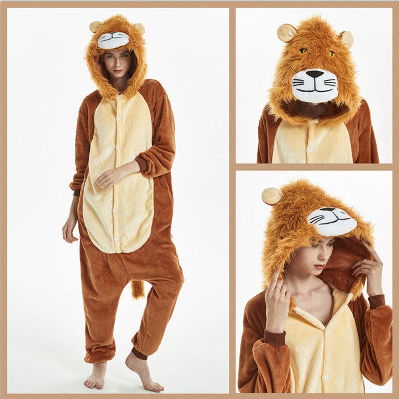 Кигурими пижама для мальчика теплая флиссовая яркая Арт. Лев Алекс