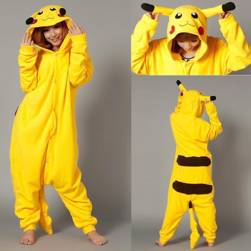 Кигурими пижама для девочки теплая велсофт жолтая Арт. Покемон Пикачу