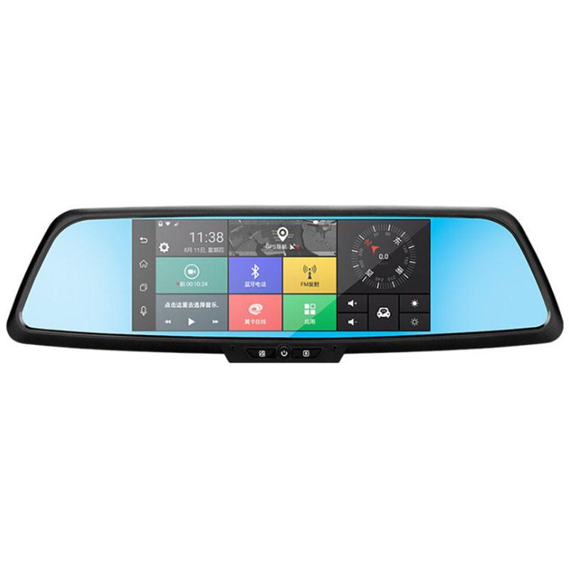 Зеркало видеорегистратор 7 Lesko Car H9 Android 1+16 + камера заднего вида (2597-7053)