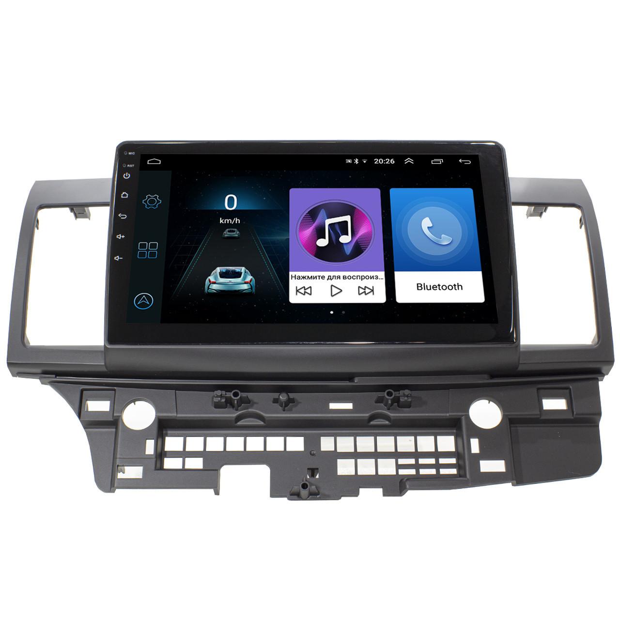 Штатная магнитола для авто Mitsubishi Lancer X (2007-2017) экран 10.1 4х50Вт 1/16GB 1080P GPS Wi Fi (3608-10478)