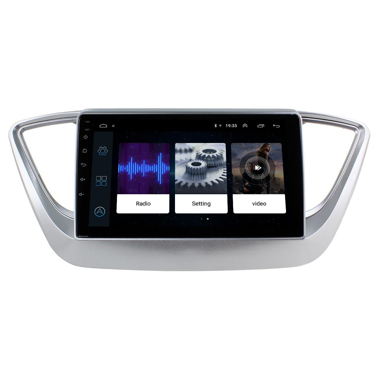 Штатная автомобильная магнитола 9 Hyundai Accent (2017г.) 2/32Gb GPS Android (4353-12703)