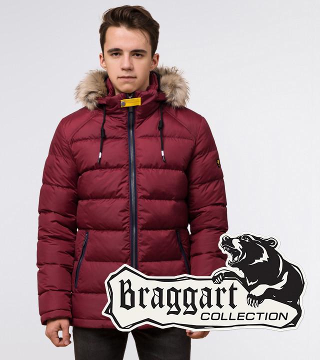 Подросток 13-17 лет | Куртка зимняя Braggart Teenager 73563 бордовая р. 40 42 44 46