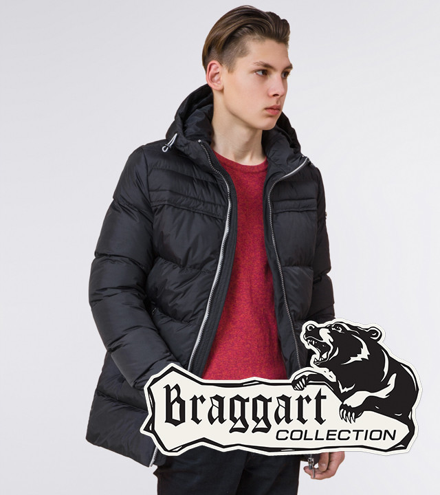 Подросток 13-17 лет | Зимняя куртка Braggart Teenager 71293 графит р. 40 42 44