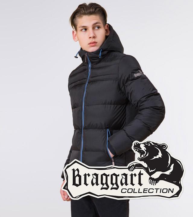 Подросток 13-17 лет | Зимняя куртка Braggart Teenager 71293 черная р. 40 42 44
