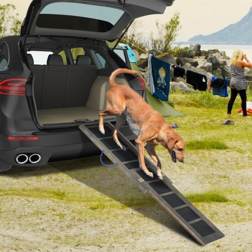 Деревянная лестница для собак PawHut