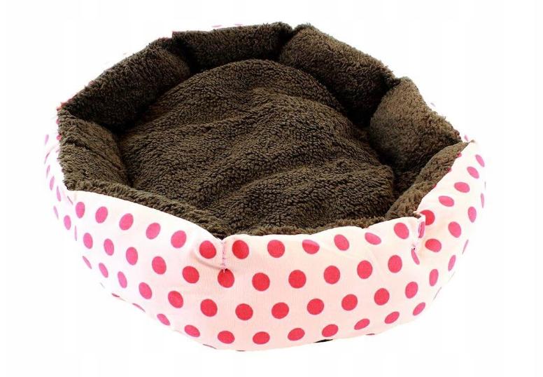 Кровать LEADER SOFA 33*38 см для собак красный с розовыми точками
