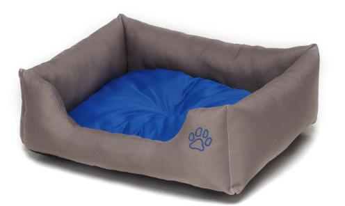Лежак для собак Noble Pet Richard R2108/85 серо-синий (85 х 70 х 19 см)