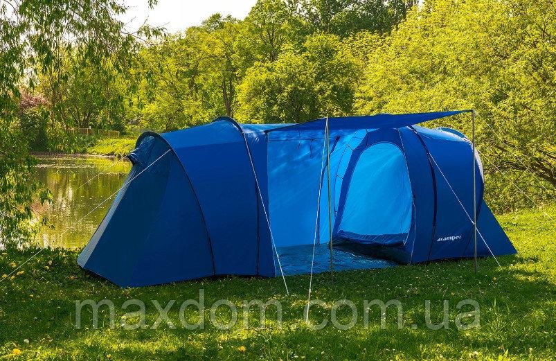 Туристическая палатка LOFOT 4 PRO ACAMPER 3500 мм синяя на 4 человека Польша