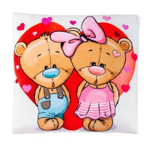 Подушка декоративная Stip Мишки в сердце 30см